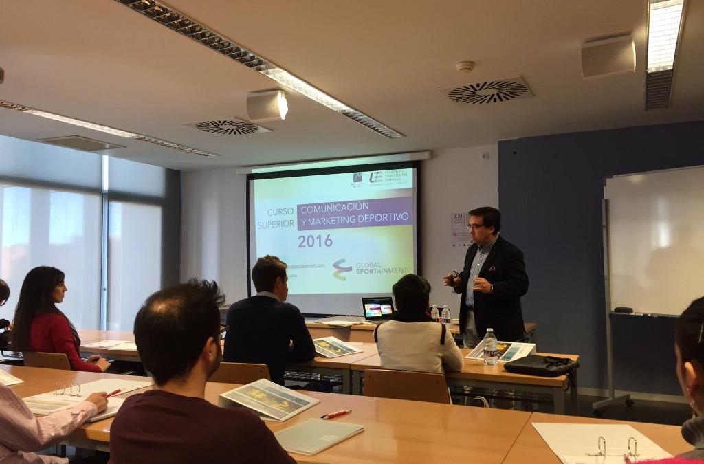 Lección inaugural en el Curso de Marketing Deportivo de la FUE en la U. Jaume I