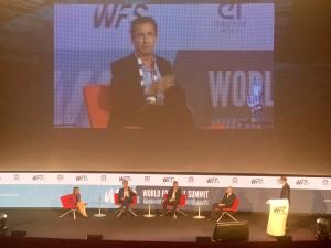 Un momento de la intervención de Jorge Valdano en el WFS