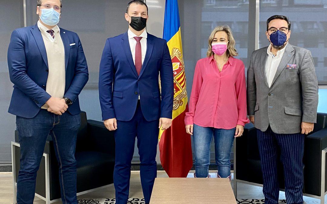 GES se reúne con el ministro de Presidencia, Economía y Empresas de Andorra